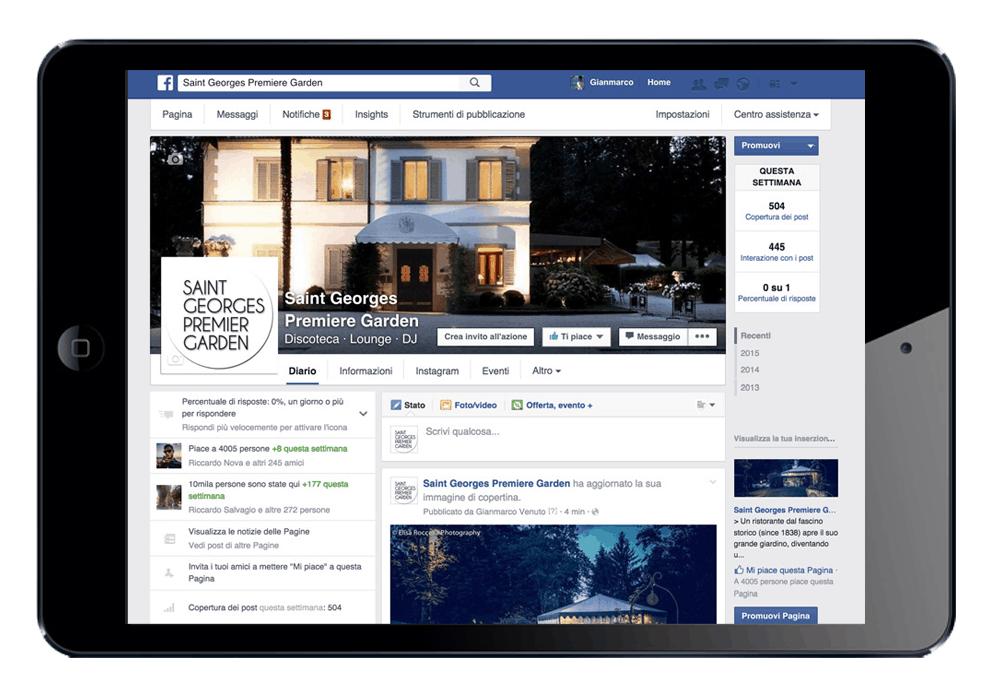 Saint Georges Premier - Sinapps Social Media Marketing Milano