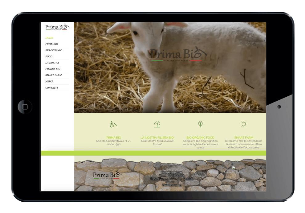 Prima Bio - Sinapps Siti Web Milano