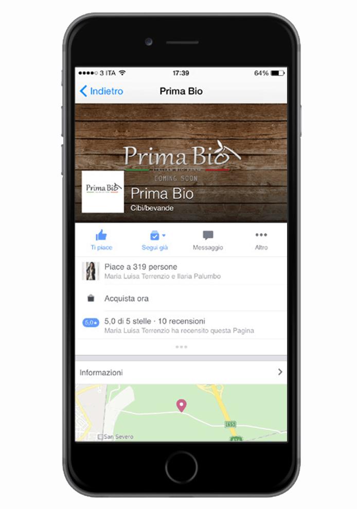Prima Bio - Sinapps Social Media Marketing Milano