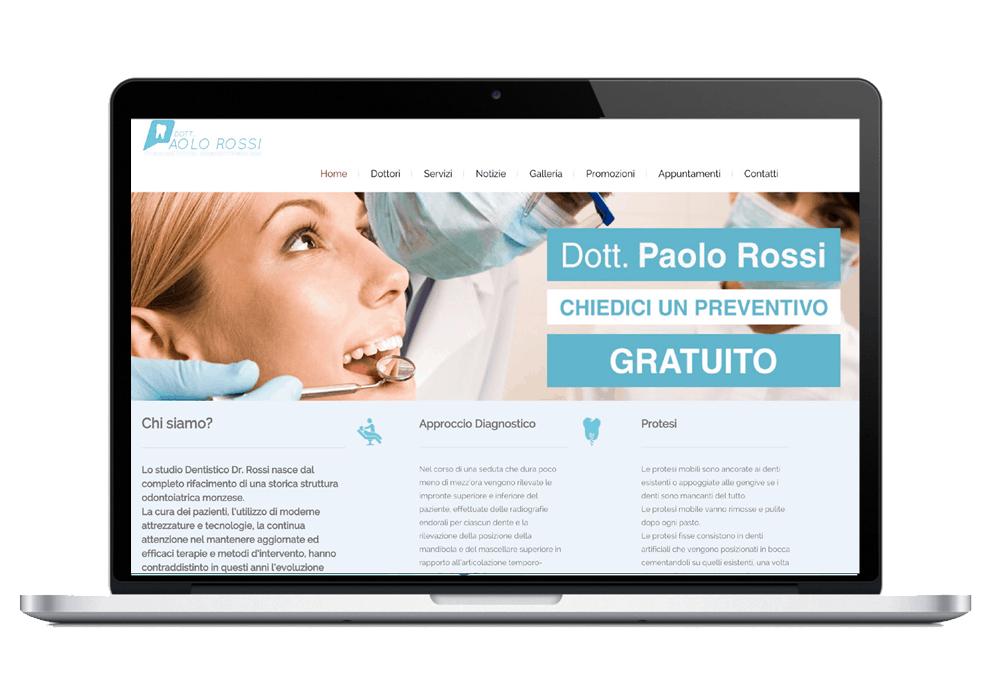 Dentista Paolo Rossi - Sinapps Siti Web Milano