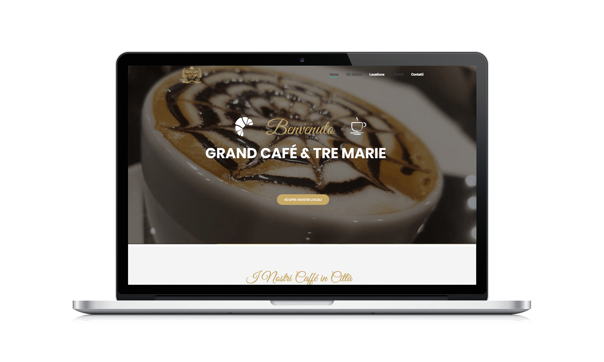 Gran caf e tre marie sinapps web agency milano for Bar le tre marie milano