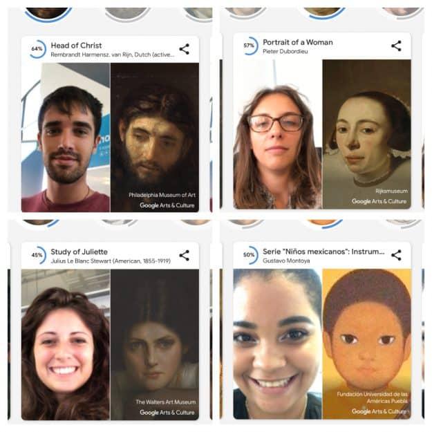 Google lancia Art Selfie: l'app che ti dice a che opera d'arte assomigli